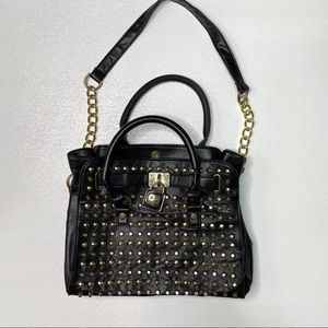 BRACIANO Black Pebble Leather Bag